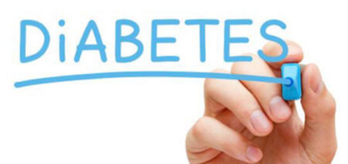 Handing Writing Diabetes In Blue Marker