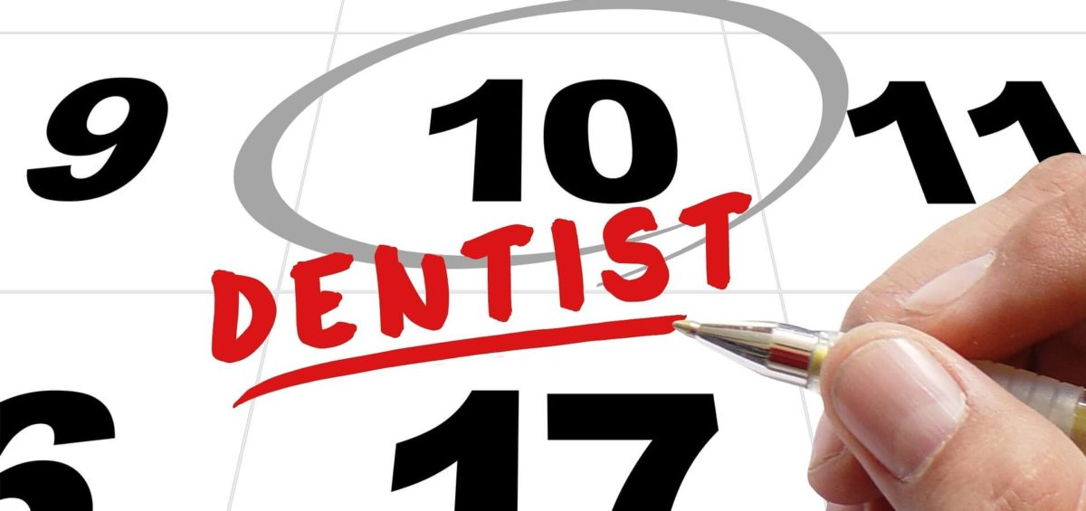 Calendar date circled for dentist appointment